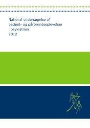 National undersøgelse af patient- og pårørendeoplevelser i ...