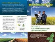 CPAg - Certified Crop Adviser