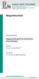 Magnettechnik - Magnetfabrik Bonn