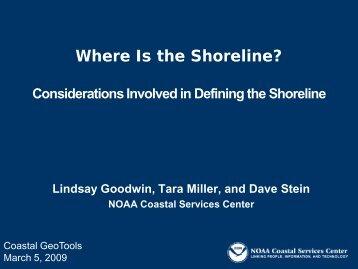 Where Is the Shoreline? - GeoTools - NOAA