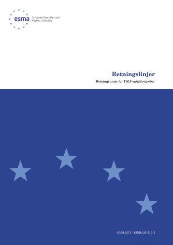 Retningslinjer - Esma - Europa
