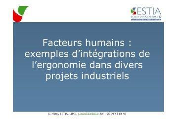 Facteurs humains : exemples d'intégrations de l ... - Page d'accueil
