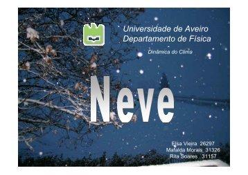 A neve - Torre:Tempo e Clima - Universidade de Aveiro