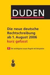 Duden: Die neue deutsche Rechtschreibung kurz gefasst