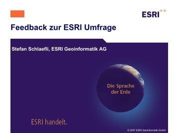 Feedback zur Umfrage - Esriuserforum.ch