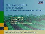 Physiological effects of stress on soybean: - Department of ...