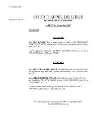 COUR D'APPEL DE LIÉGE - Juridat