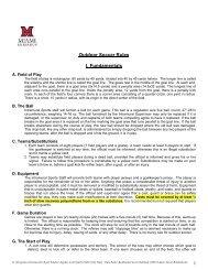 Outdoor Soccer Rules I. Fundamentals