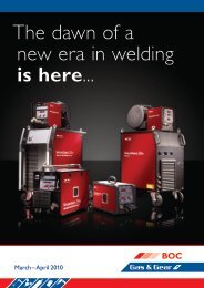 Gas & Gear Catalogue March-April 2010 - BOC World of Welding