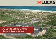 AJ Lucas Group Limited Results Presentation