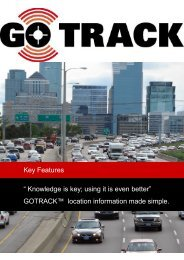 Key Features - GPS Vehicle Tracking System