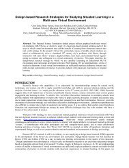 Design-based Research Strategies for Studying Situated Learning in a