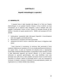 Aspetti metodologici e operativi - Autorità di Bacino del Fiume Magra