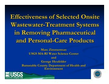 Effectiveness of Selected Onsite Wastewater-Treatment ... - NEIWPCC