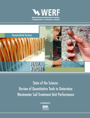 Review of Quantitative Tools to Determine Wastewater Soil ...