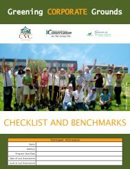 Greening Corporate Grounds Checklist - Credit Valley Conservation