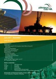 June 2011 - Newsletter - Petroleum Club Of WA