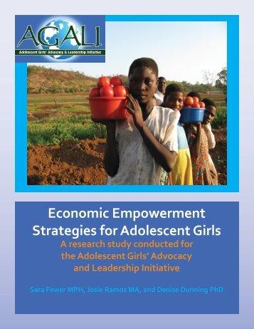 Adolescent Girls' Economic Empowerment report