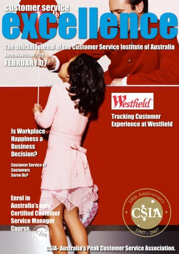 Issue 20 - Customer Service Institute of Australia