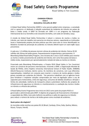 CHAMADA PÚBLICA Ciclo 2 Sexta-feira, 6 de julho de 2012 A ...