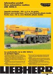 Information produit Grue automotrice routière LTM 1090/2