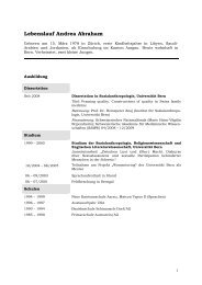 Lebenslauf Andrea Abraham - Institute of Advanced Study in the ...
