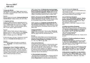 Normas ABNT NBR 6023 - Faculdade Christus