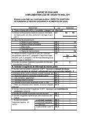 Raport activitate Legea 544/2001 pentru anul 2011 ... - ansvsa