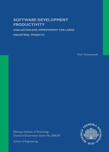 Software Development Productivity - Evaluation and Improvement ...