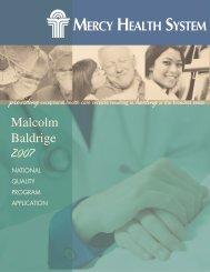 Mercy Health System - Baldrige Performance Excellence Program