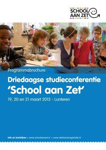 'School aan Zet' - Deelnameregistratie
