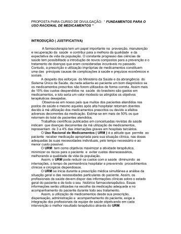 """PROPOSTA PARA CURSO DE DIVULGAÇÃO: """" FUNDAMENTOS ..."""