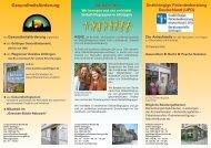 Download: Der Flyer des Gesundheitszentrums ... - KIBIS Göttingen