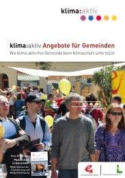 klima:aktiv-Angebote für Gemeinden (2013) - e5 Gemeinden