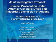 Joint Investigative Protocol: Criminal Prosecution ... - Snell & Wilmer