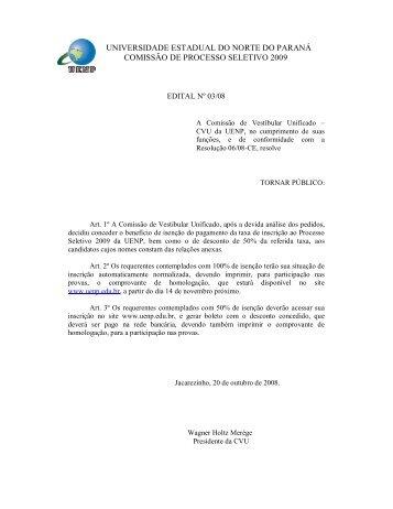 universidade estadual do norte do paraná comissão de processo ...