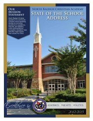 Excellence in - North Raleigh Christian Academy