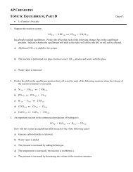Topic 6: Part_D - Avon Chemistry