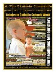 January 27 - St. Pius X Catholic Community