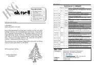 Heft 2 für das Schuljahr 2011 / 2012 - HSG