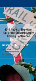 2011 National Highway- Rail Grade Crossing Safety Training ...