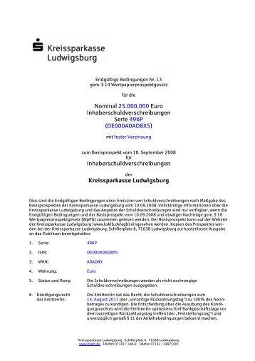 DE000A0AD8X5 - Kreissparkasse Ludwigsburg