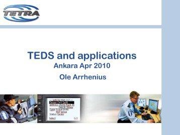 TEDS and applications Ole Arrhenius - tetra