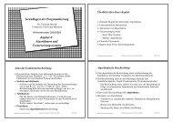 Grundlagen der Programmierung Kapitel 4 - Technische Universität ...