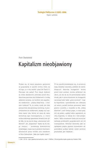 Kapitalizm nieobjawiony - Teologia Polityczna