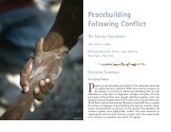 Peacebuilding Following Conflict - The Stanley Foundation
