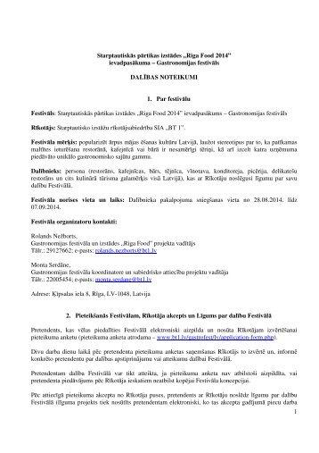 Aicinām Latvijas ēdināšanas uzņēmumus piedalīties ... - BT 1