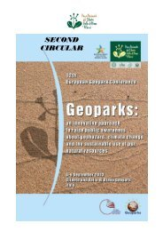 SECOND CIRCULAR - Global Geoparks Network