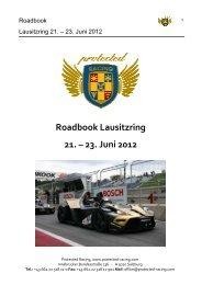 Roadbook Lausitzring 21. – 23. Juni 2012