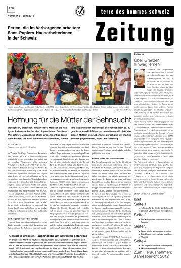 Zeitung - Terre des Hommes Schweiz